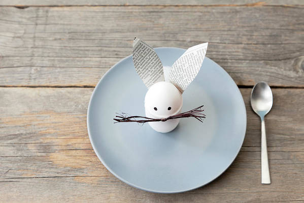 Holiday Art Print featuring the photograph Rabbit Decoration On Plate by Stefanie Grewel