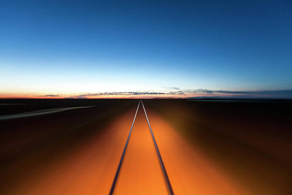 Railroad Track Art Print featuring the photograph Railroad, Churchill, Manitoba, Canada by Paul Souders