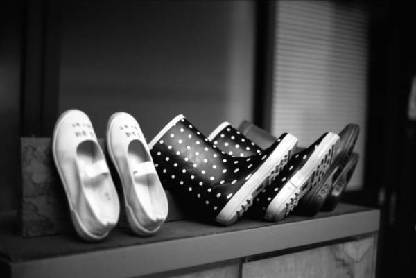 In A Row Art Print featuring the photograph Rain Shoes by Snap Shooter Jp