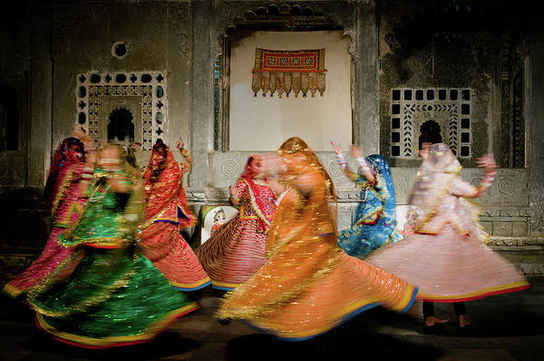 People Art Print featuring the photograph Rajasthani Dances by Ania Blazejewska