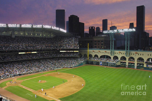 Minute Maid Park Art Print featuring the photograph Reds V Astros X by Ronald Martinez