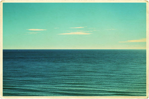 Scenics Art Print featuring the photograph Retro Seascape Postcard by Farukulay