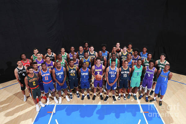 Nba Pro Basketball Art Print featuring the photograph Rookie Photo Shoot 2017 by Joe Murphy