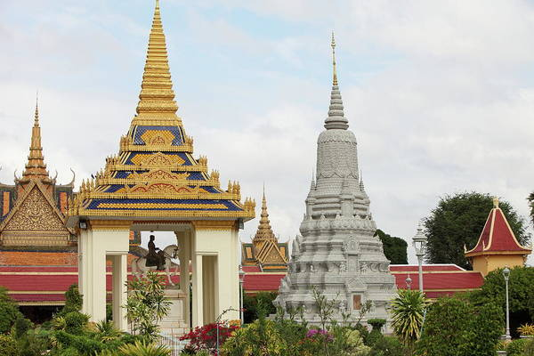 Southeast Asia Art Print featuring the photograph Royal Palace In Phnom Penh, Cambodia by Laurent