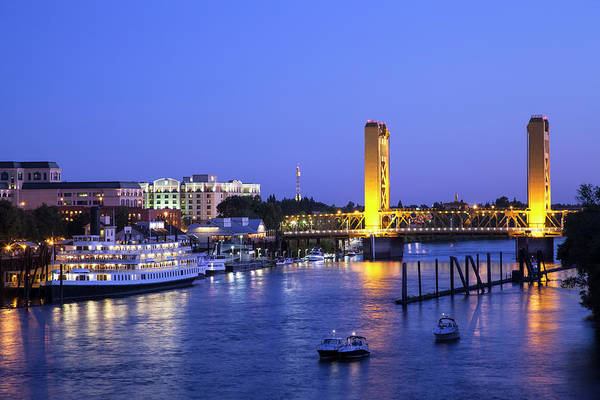 Scenics Art Print featuring the photograph Sacramento River And Tower Bridge At by Picturelake