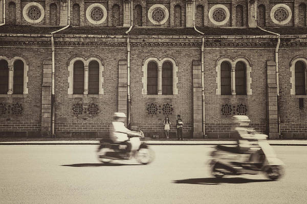 Ho Chi Minh City Art Print featuring the photograph Saigon Old Corner by Jethuynh
