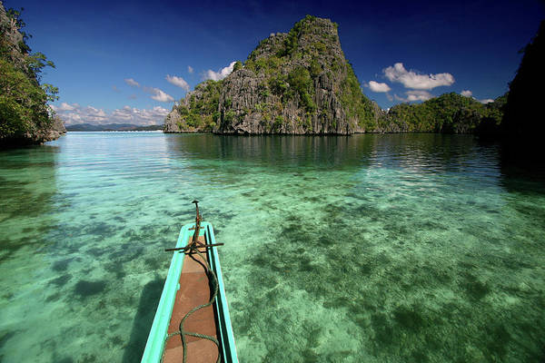 Tranquility Art Print featuring the photograph Sailing Over Coral Coron by Photo ©tan Yilmaz
