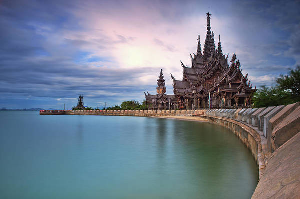 Tranquility Art Print featuring the photograph Sanctuary Of Truth by Nutexzles