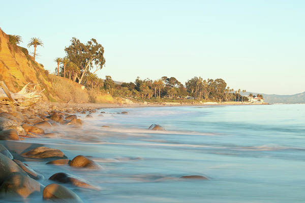 Water's Edge Art Print featuring the photograph Santa Barbara by Andrewhelwich