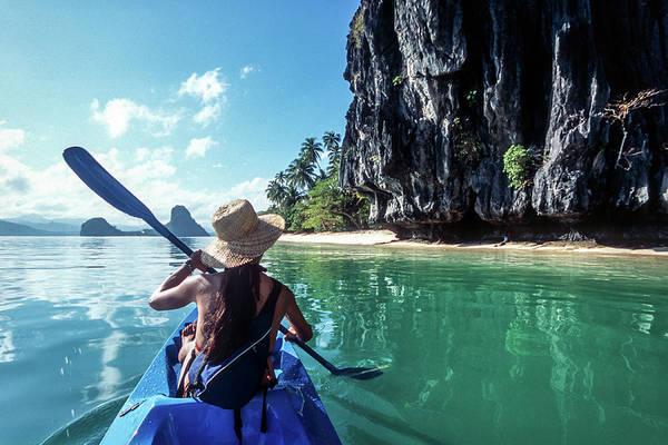 Southeast Asia Art Print featuring the photograph Sea Kayaking by John Seaton Callahan