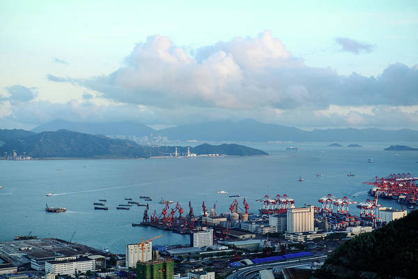 Tranquility Art Print featuring the photograph Shenzhen Bay And Shekou Port by Wilson.lau