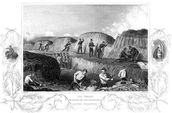 Working Art Print featuring the drawing Siege Of Sebastopol, Crimean War by Print Collector