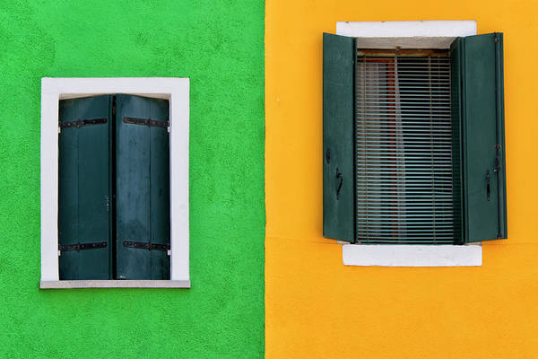 Tranquility Art Print featuring the photograph Sisters Windows, Burano, Italy by Stefan Cioata