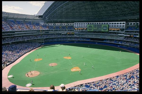 1980-1989 Art Print featuring the photograph Skydome Blue Jays by Rick Stewart