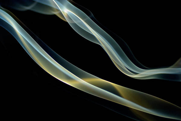 Curve Art Print featuring the photograph Smoke-trails by April30