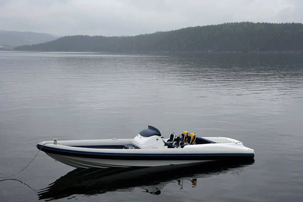 Outdoors Art Print featuring the photograph Speedboat, Side View by Vegar Abelsnes Photography