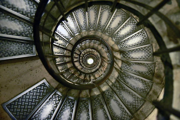 Paris Art Print featuring the photograph Spiral Staircase Of The Arc De by Jjr