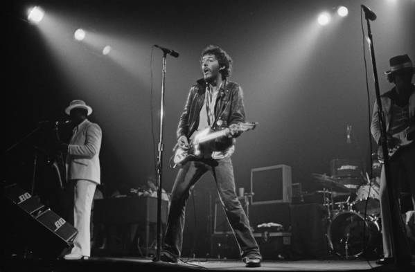 Music Art Print featuring the photograph Springsteen Live In New Jersey by Fin Costello