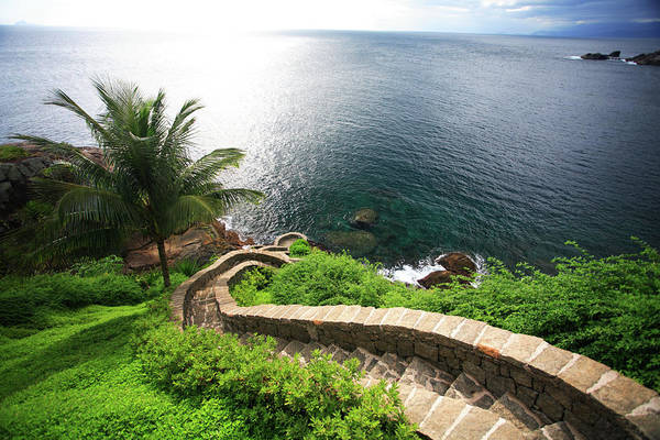 Steps Art Print featuring the photograph Stairs To The Sea - Brazil by Luso