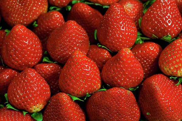 Large Group Of Objects Art Print featuring the photograph Strawberry Cliche by By Ken Ilio