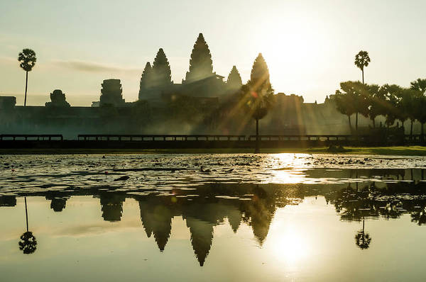 Tranquility Art Print featuring the photograph Sunrise At Angkor Wat by Matt Davies Noseyfly@yahoo.com