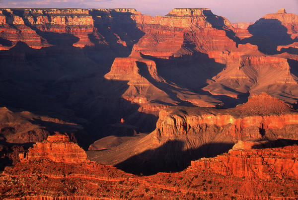 Toughness Art Print featuring the photograph Sunset Over Grand Canyon by By Tiina Gill