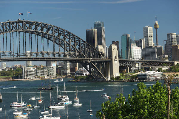 Sydney Harbor Bridge Art Print featuring the photograph Sydney Harbour, New South Wales by Robin Smith