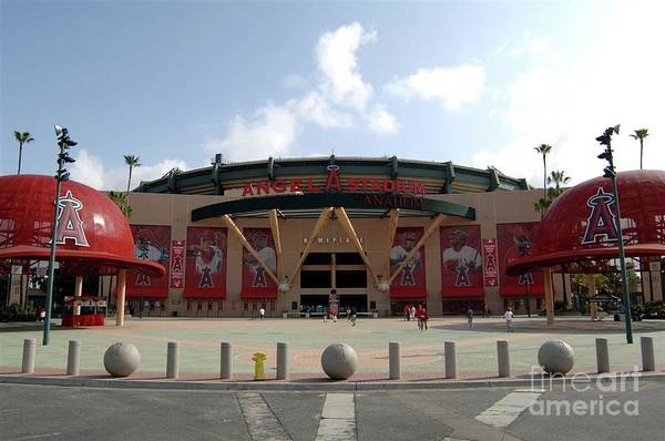 American League Baseball Art Print featuring the photograph Texas Rangers V Los Angeles Angles Of by Mlb Photos