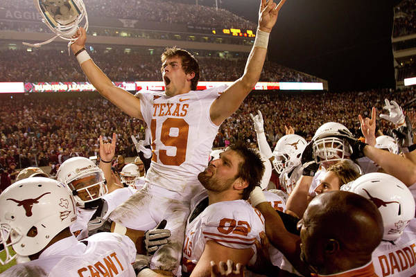 College Station Art Print featuring the photograph Texas V Texas A&m by Darren Carroll