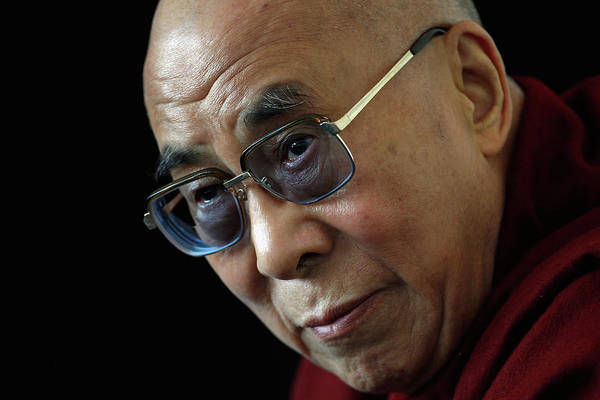 England Art Print featuring the photograph The Dalai Lama Visits The Uk by Christopher Furlong