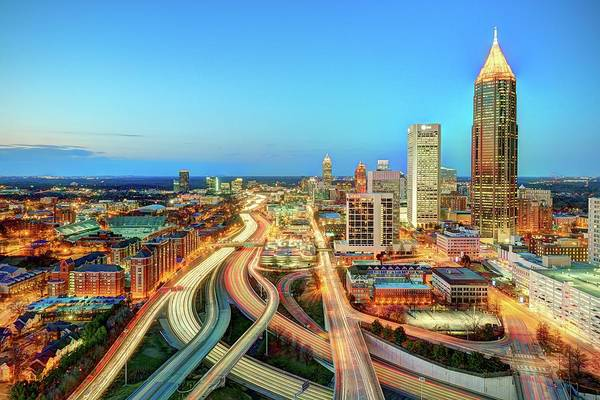 Atlanta Art Print featuring the photograph The Lifeblood Of Atlanta by Photography By Steve Kelley Aka Mudpig