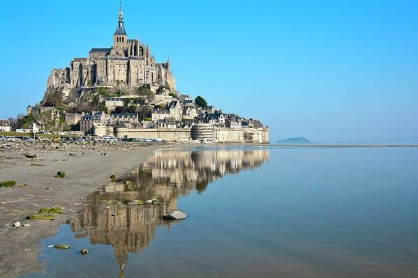 Tranquility Art Print featuring the photograph The Magical Mont Saint-michel by Paul Biris