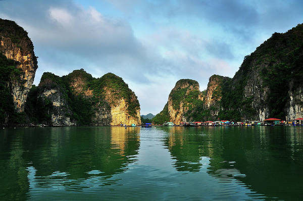 Scenics Art Print featuring the photograph The Scenic Of Halong Bay by Photo By Sayid Budhi
