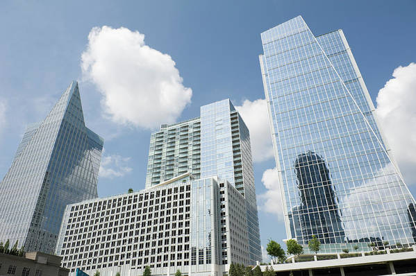 Atlanta Art Print featuring the photograph Three Modern Buildings In Different by Ajansen