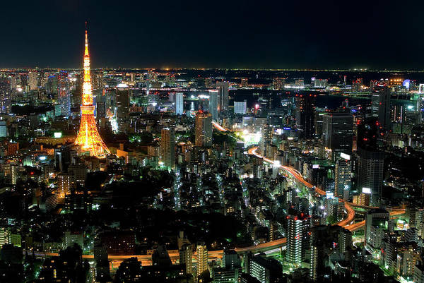 Tokyo Tower Art Print featuring the photograph Tokyo Tower by Andreas Jensen
