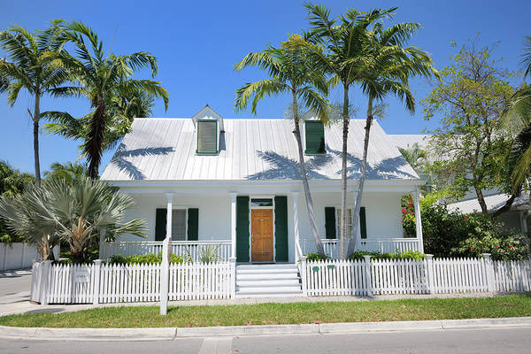 Steps Art Print featuring the photograph Townhouse In Key West Florida by Pidjoe