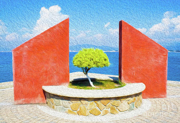 Mexico Art Print featuring the digital art Tranquil Surroundings by Kenneth Montgomery