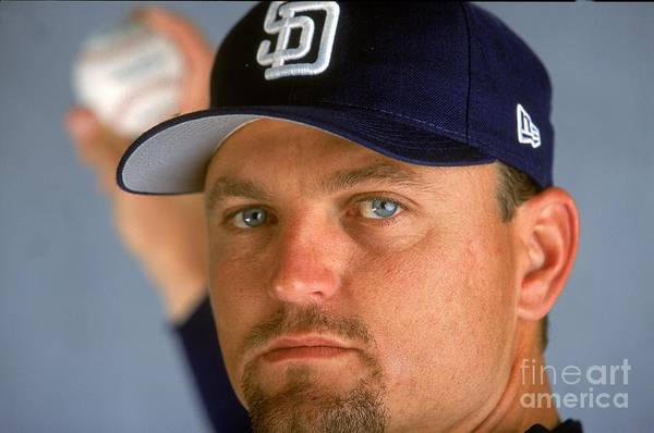 Peoria Sports Complex Art Print featuring the photograph Trevor Hoffman 51 by Brian Bahr