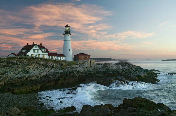 Scenics Art Print featuring the photograph Usa, Maine, Cape Elizabeth, Portland by Visionsofamerica/joe Sohm
