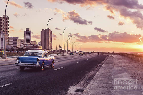 Latin America Art Print featuring the photograph Vehicles On Road Against Sky by Sven Hartmann / Eyeem