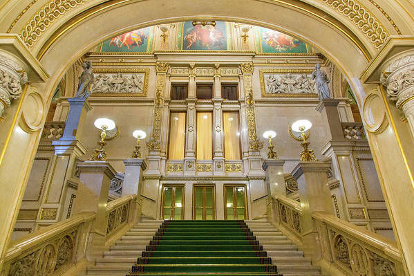 History Art Print featuring the photograph Vienna Opera House, The Main Hall by Sylvain Sonnet