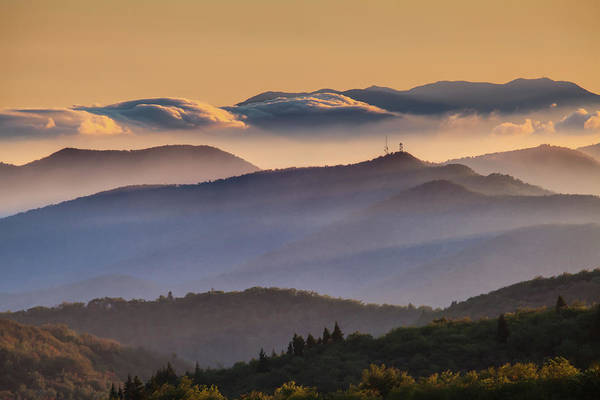 North Carolina Art Print featuring the photograph View Of Frying Pan Mountain by Fine Art Images By Rob Travis Photography