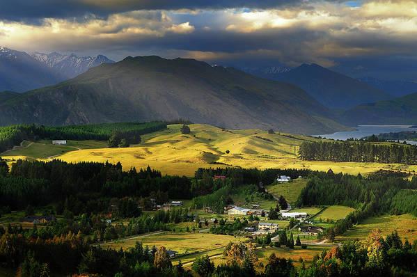 Scenics Art Print featuring the photograph Wanaka, New Zealand by Atomiczen