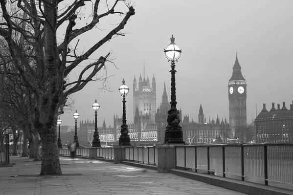 Scenics Art Print featuring the photograph Westminster At Dawn, London by Gp232