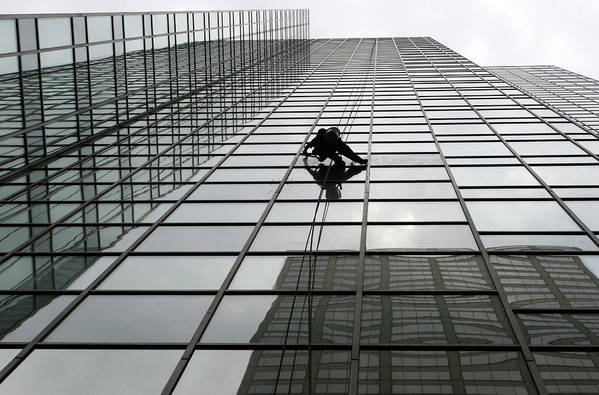 Working Art Print featuring the photograph Window Washer by Filo