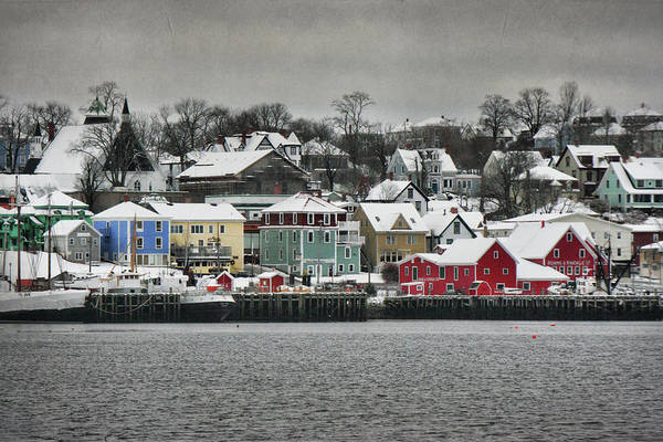 Snow Art Print featuring the photograph Winter In Lunenburg by Amanda White