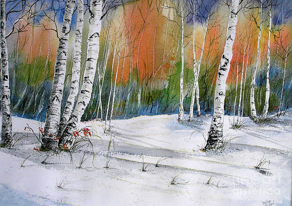 Snow Art Print featuring the painting Winter Wonderland by Midge Pippel