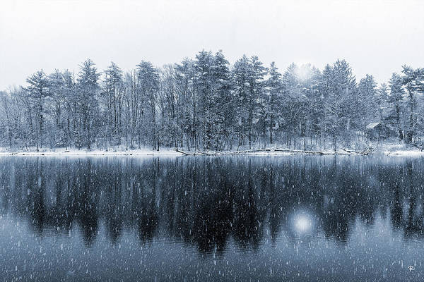 Winter Art Print featuring the photograph Woodstock Snowstorm by Tom Romeo