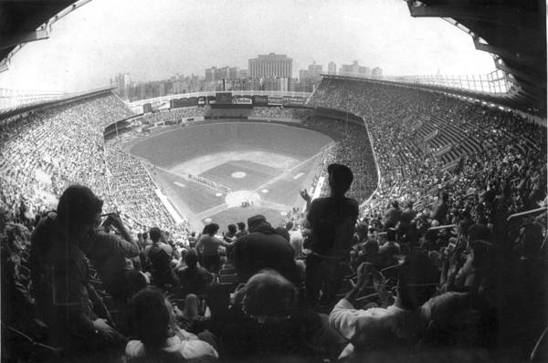 1980-1989 Art Print featuring the photograph Yankee Stadium Is Packed For The New Y by New York Daily News Archive
