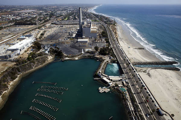 Environmental Conservation Art Print featuring the photograph Aerial Views Of Construction On The Carlsbad Desalination Plant by Bloomberg